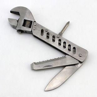多功能不锈钢活动扳手螺丝刀组合工具