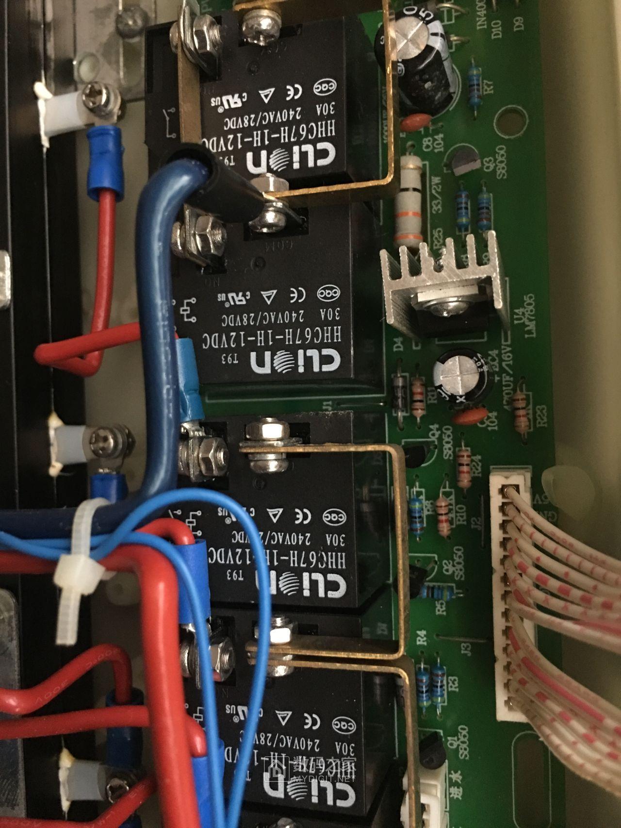 220V总线过温度开关后直接分到继电器上,N线2个,L线3个