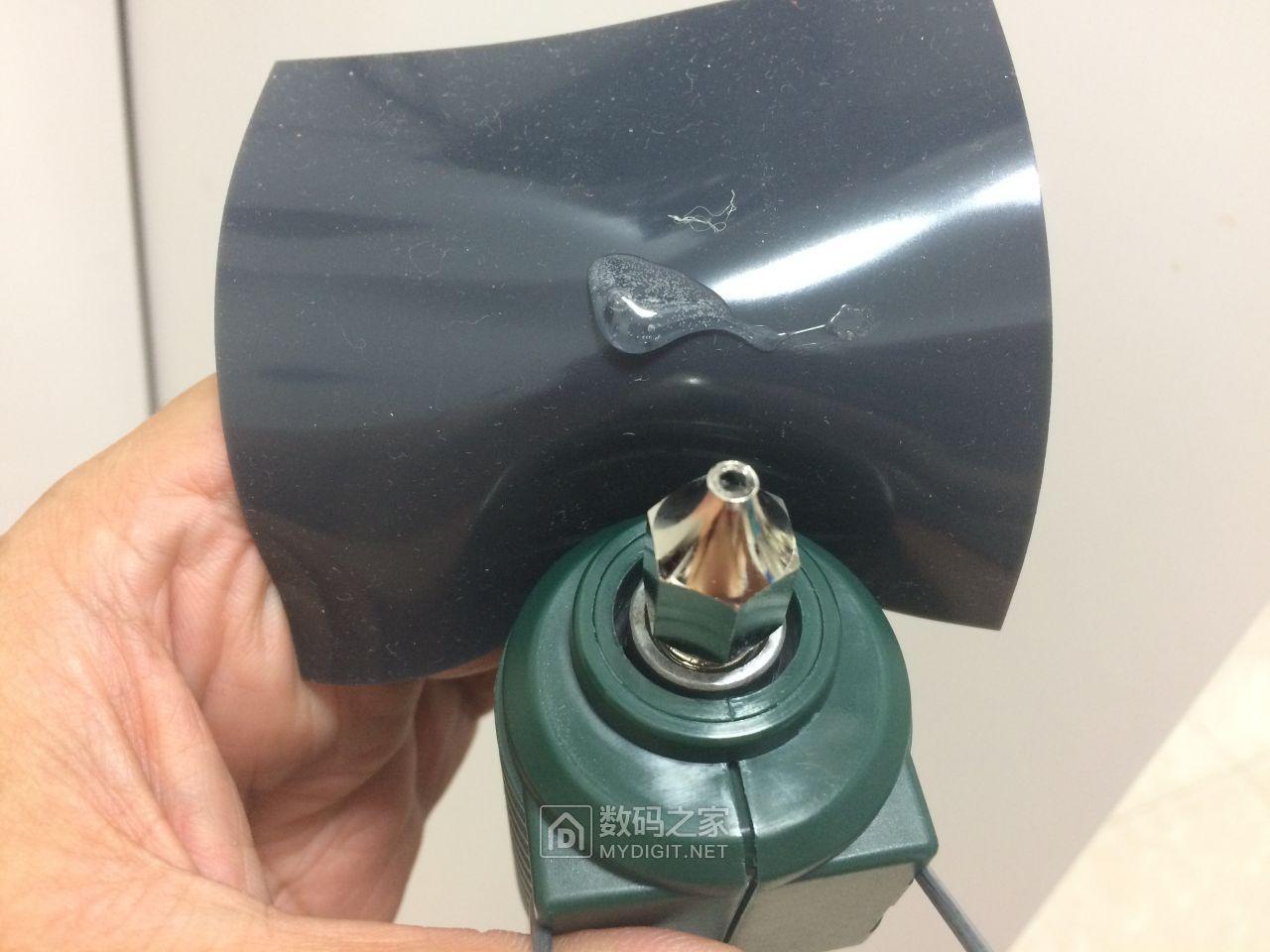用这个胶垫擦拭枪嘴冷却后不会粘
