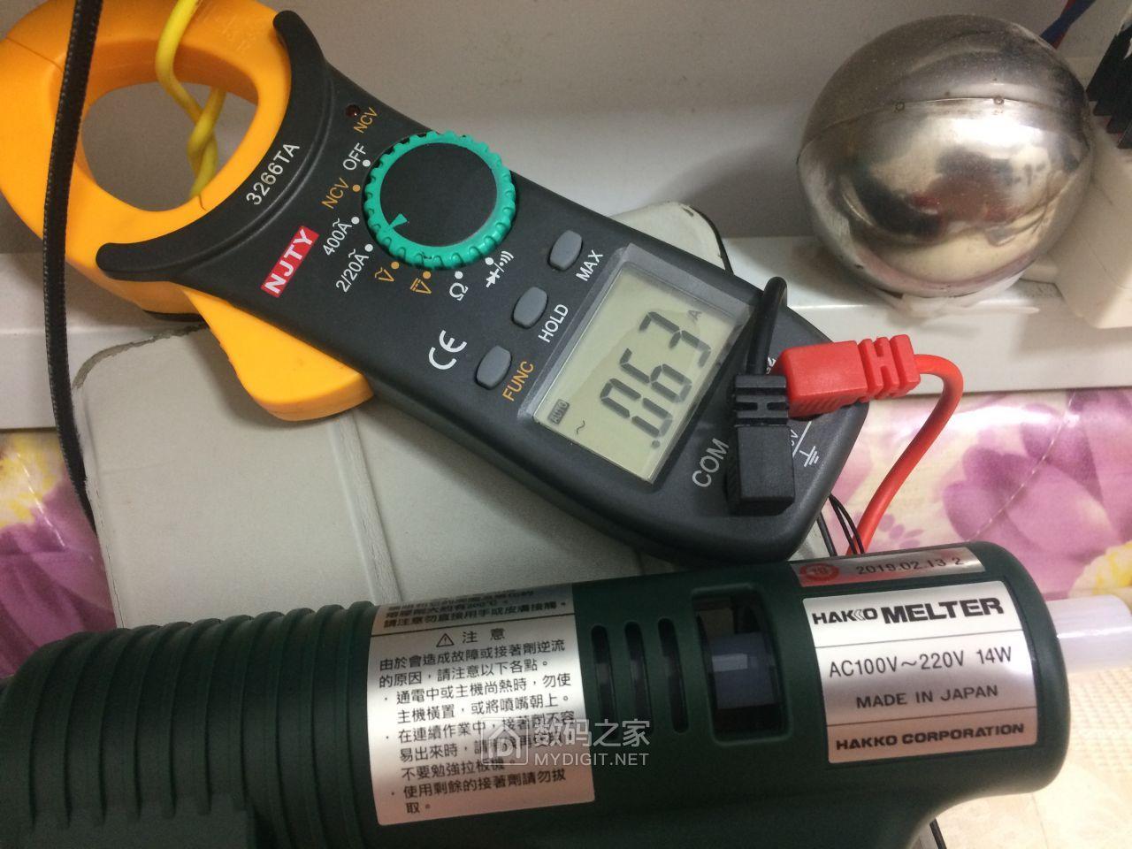 恒温后电流稳定在0.63A左右