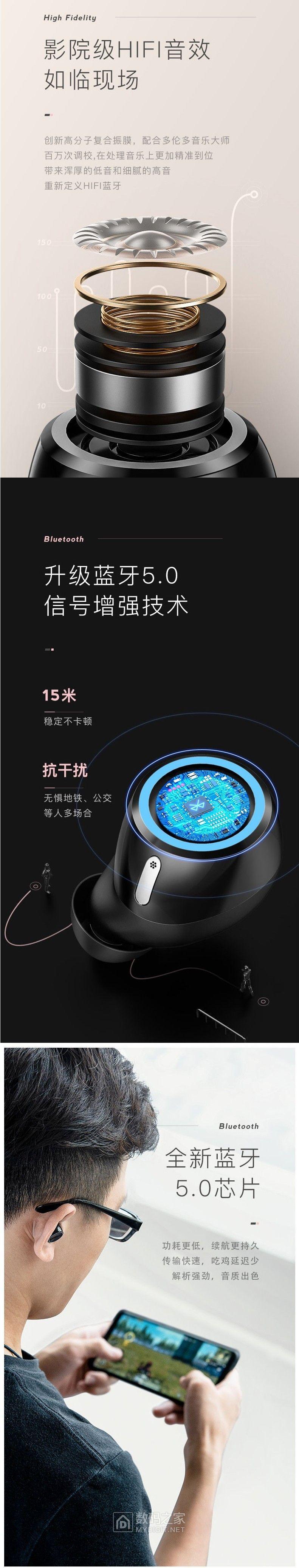 Nineka南卡N2蓝牙5.0耳机~全新触控真无线蓝牙耳机评测活动(拆客试用67期)