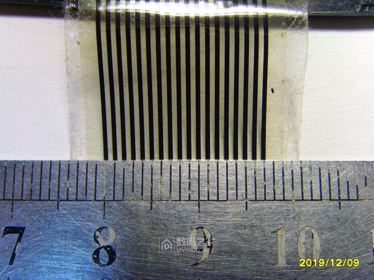 测量宽度和间距。