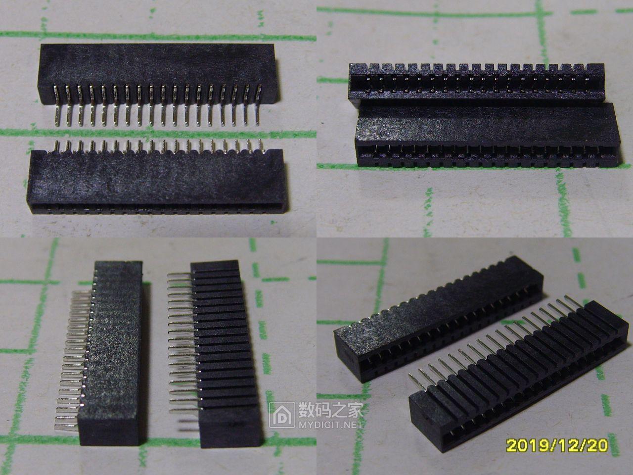 第二种配件。1.0mm间距,18p单排双面排线座。