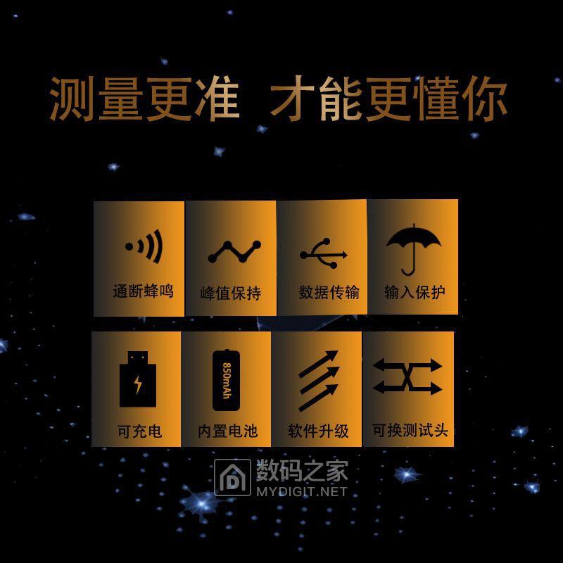 凌安无线S02自动量程数字电流电压表