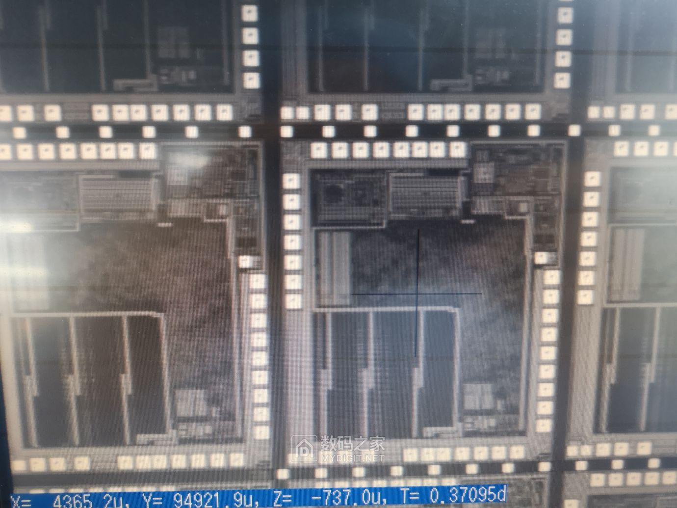 机台CCD下看到的晶粒