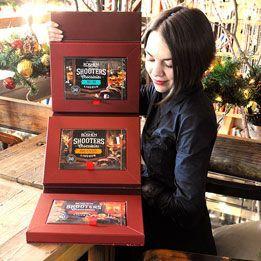 乌克兰进口,如胜神枪手三口味酒心巧克力150g×3盒 57元包邮!  精致礼盒